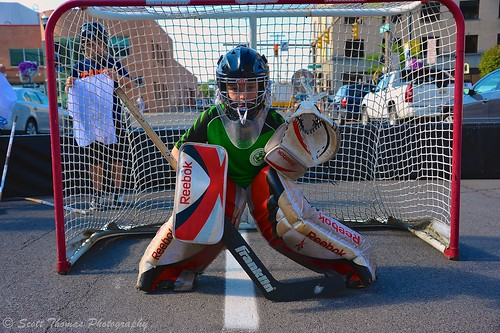 boy summer newyork net goal goalie community nikon child unitedstates son event gloves syracuse stick ahl warmemorial crunch pads facemask streethockey americanhockeyleague onondagacounty d700 scottthomasphotography