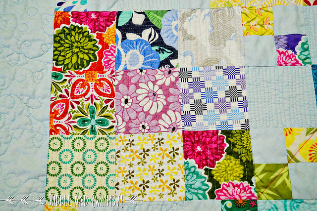 Riddle and {Whimsy} Spanish Chains Nine patch quilting detail