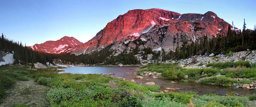 mountains sunrise landscape panoramic rmnp rockymountainnationalpark stitchedimage microsoftice