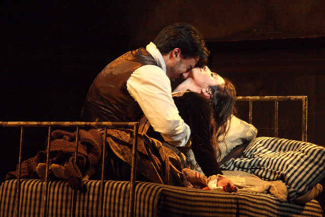 Charles Castronovo as Rodolfo and Ermonela Jaho as Mimì in La bohème © ROH / Catherine