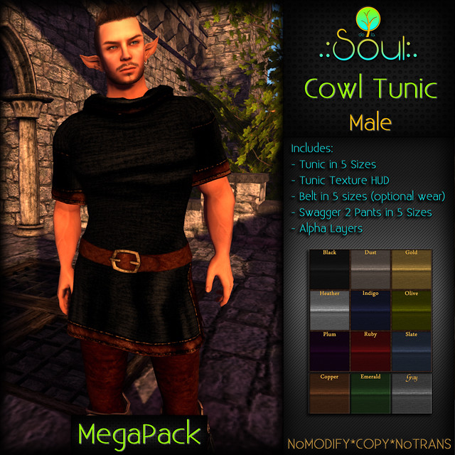 2014 Cowl Tunic - Male - MegaPack