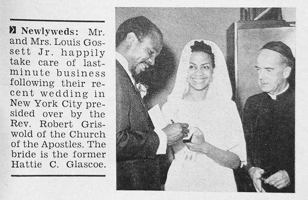 Lou Gossett Jr Marries Hattie Glascoe Jet Magazine Augu