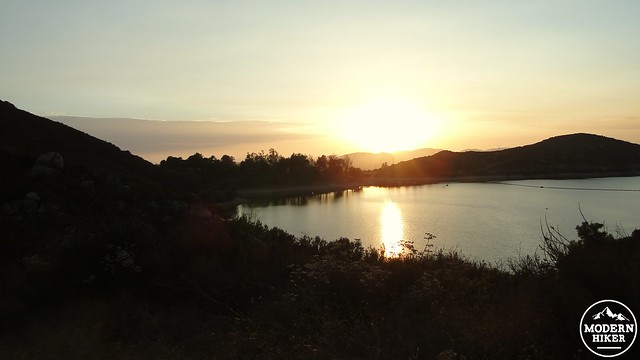 Lake Poway sunset