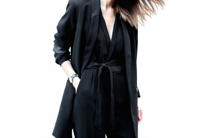modern legacy fashion blog australia office wear Witchery jumpsuit street style all black Alexander Wang Antonia heels Monki oversized boyfriend blazer  (1 of 8)