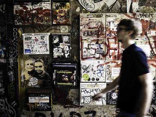 Man, Mailboxes, Street Art