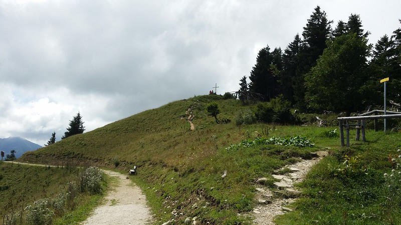 Looking up to the summit of Pillstein