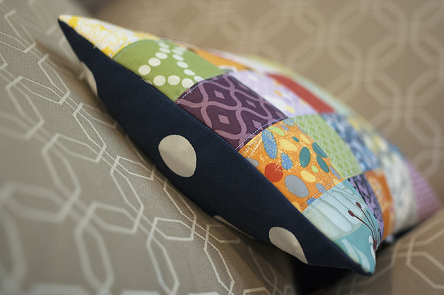 Scrappy Patchwork pillow back