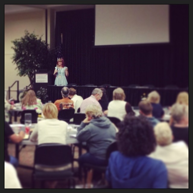 Teaching 100+ alpaca farmers how to reach knitters & spinners (like us). SUCH a great group!