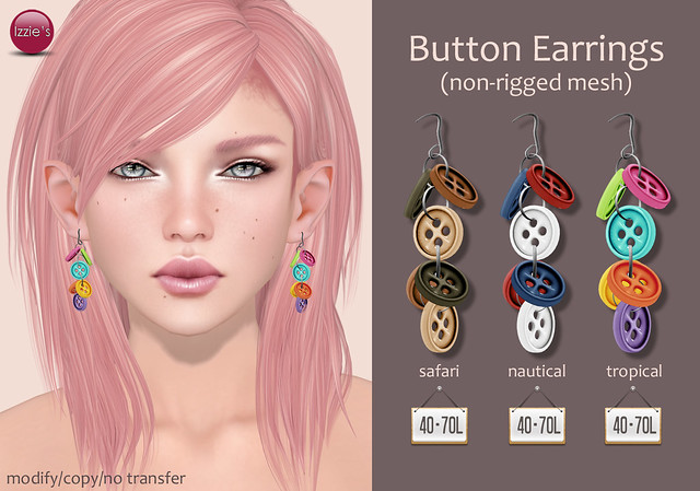 TDRF (Button Earrings)