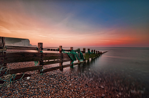 ocean uk sea dawn sussex chalk eastbourne sevensisters whitecliffs eastsussex seaford englishchannel cuckmerehaven englishheritage chalkcliff sevensisterscountrypark cuckmereriver bwbigstopper sussexheritagecoast