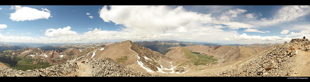 Panoramic view from Grays Peak