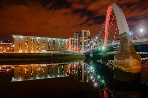 bridge colour reflection reflections scotland clyde cityscape unitedkingdom glasgow hdr colou squinty