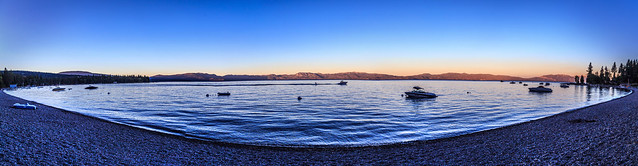 Lake Tahoe Evening Panorama