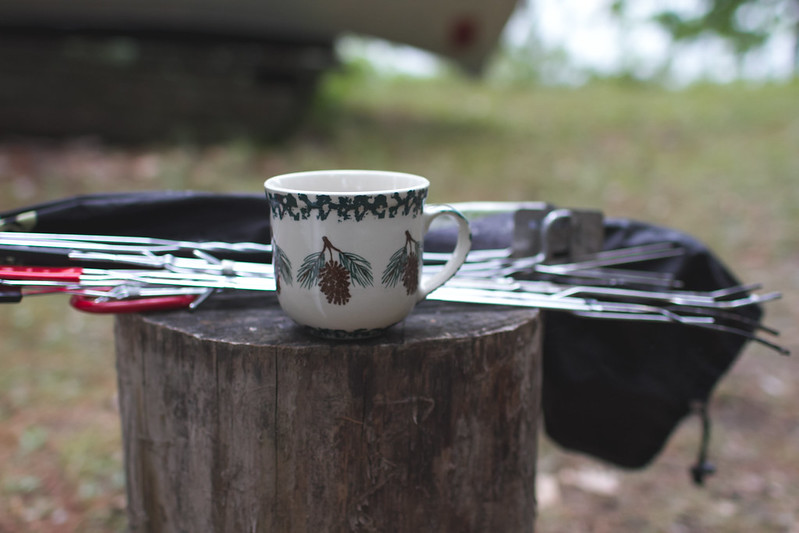 coffee mug at cabin