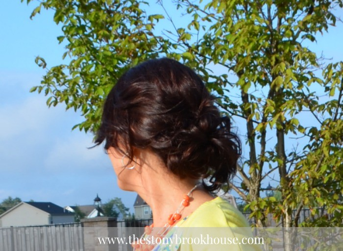 Summer updo - messy bun