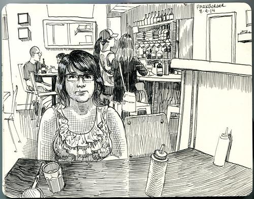 Linda at Parkburger