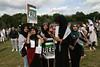 Muslim girls at pro-Gaza demo