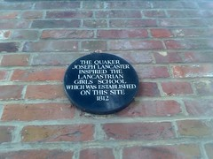 Photo of Lancastrian Girls' School, Chichester black plaque