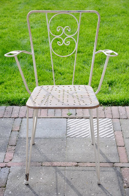 iron garden chair from spain