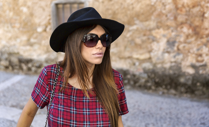 street style barbara crespo maderuelo C&A tartan dress fashion blogger outfit blog de moda