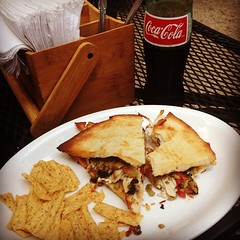 Muffuletta and REAL CocaCola at Melt. #food #northside #melt #cincy #cincypics #cincinnati #cocacola #noHFCS