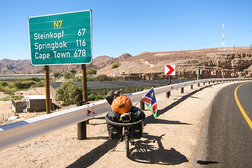Cycling in Northern Cape, South Africa