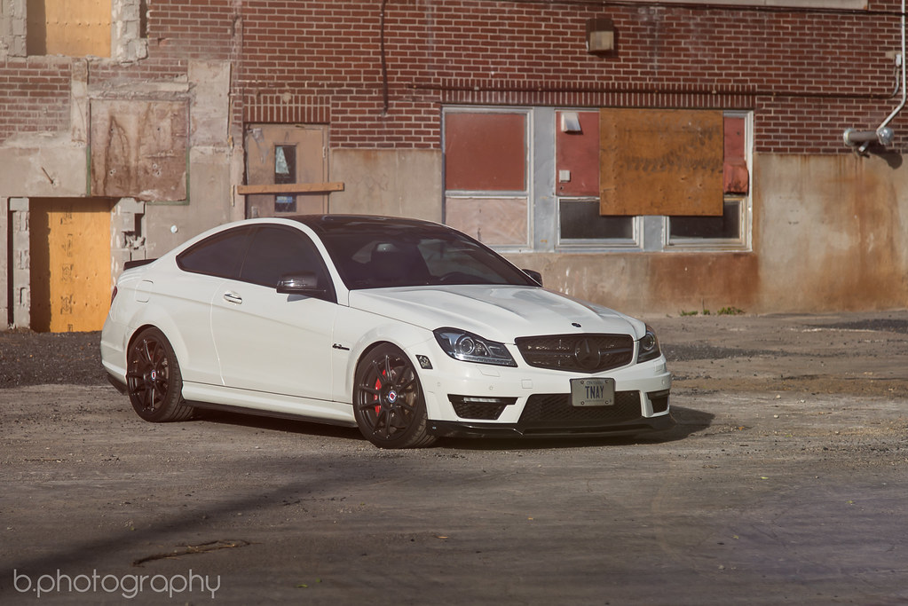 C63 coupe on HRE