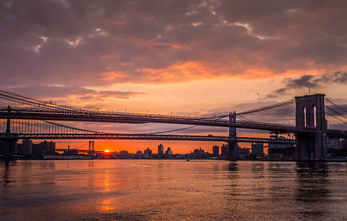 Three Bridge Sunrise by Geoff Livingston