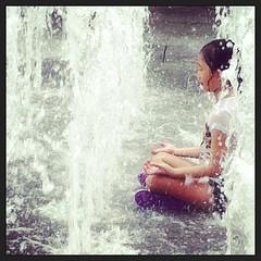 mini fountain monk