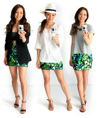 3 Ways to Wear Tropical Print