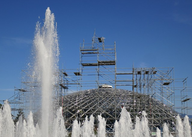 Water and scaffolding