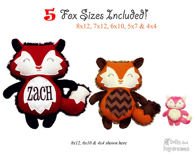Fox ITH pattern stuffie
