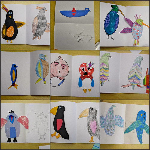 Mis L's Art Auction Project : Drawing Charley Harper Birds