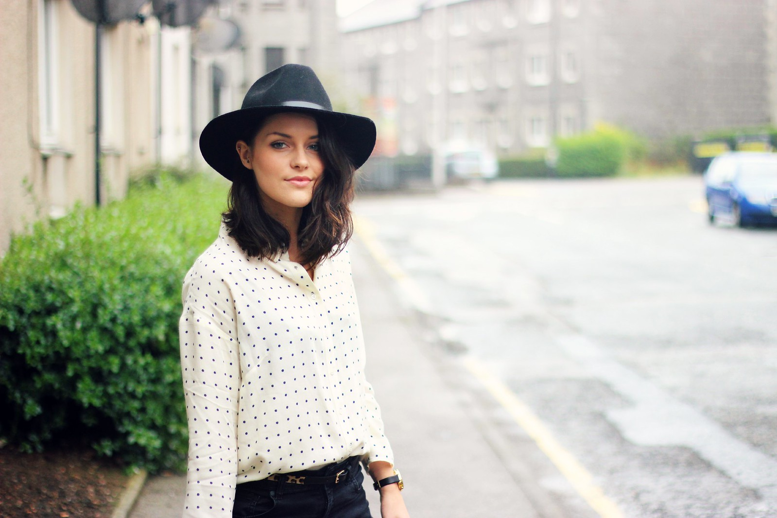 Jigsaw autumn winter polka dot shirt 5