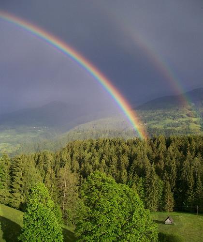 rainbow schladming steiermark regenbogen planai ramsauamdachstein bildundgedicht