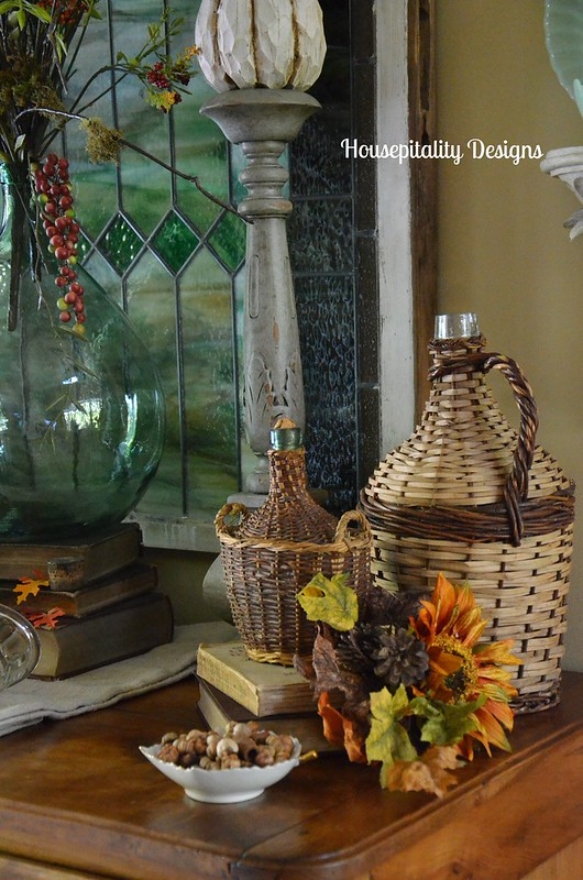 Antique French Buffet Fall Vignette