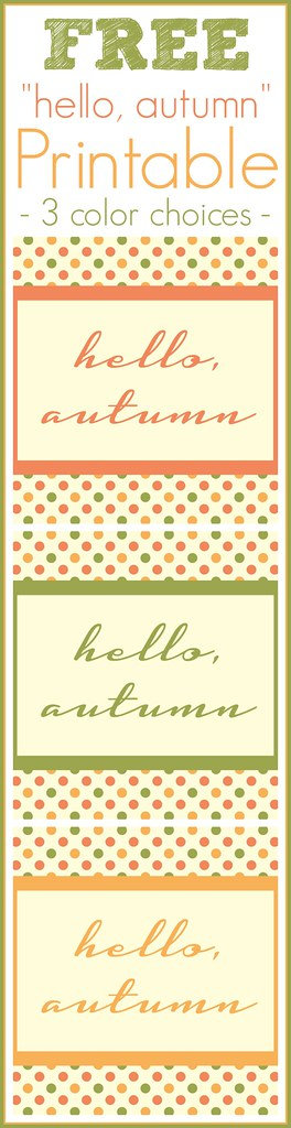 Welcome the Fall season with this {FREE} Hello, autumn printable (8x10) #free #printable #fall #autumn