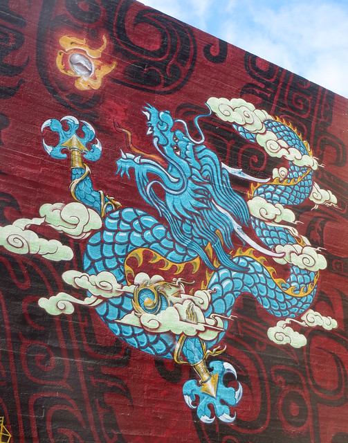 Oakland Chinatown Dragon Murals