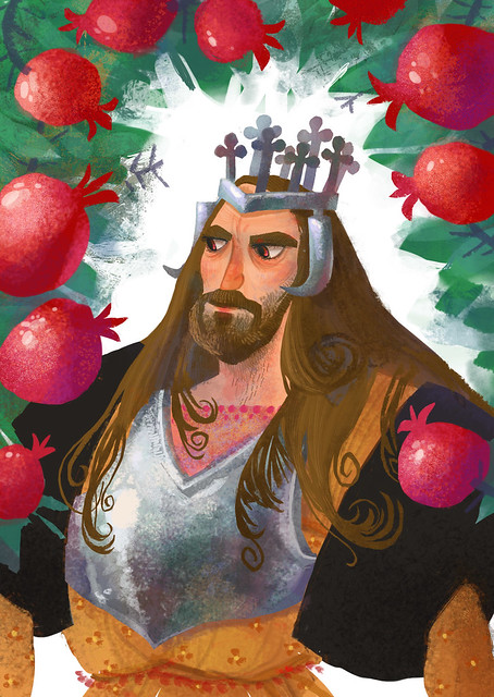 king Alexander and pomegranates