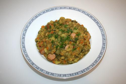 56 - Süß-saurer Kartoffeleintopf - Serviert / Sweet sour potato hotpot - Served