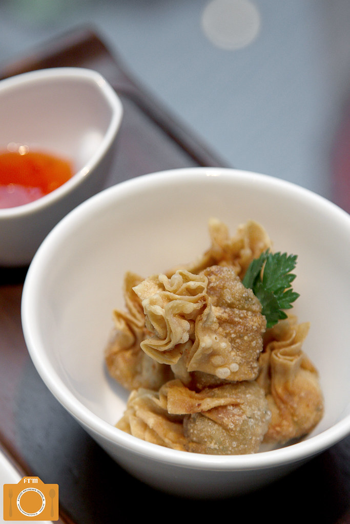 Sage Fried Vegetable Wontons with Sambal Sauce