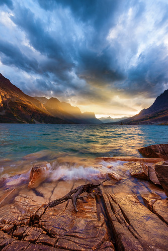 St. Mary Sunset at Glacier National Park