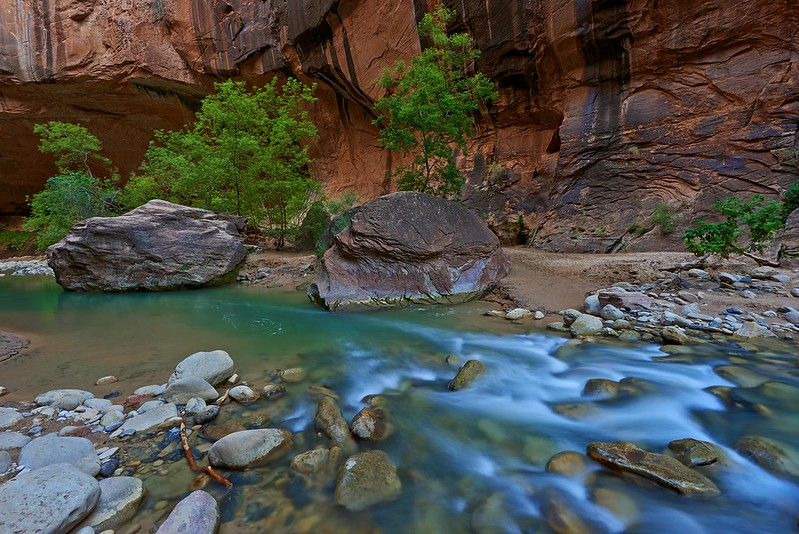 Two Stones in the Narrows - Zion National Park
