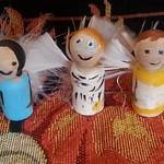 Peg saints,  the angels Raphael,  Michael,  and Gabriel