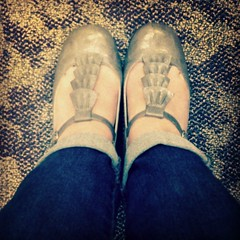 Apparently my new plan is to wear heels on Tuesday and regret it the rest of the week. Oh well-- #prettyshoes