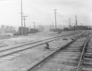 Railroad tracks in Ballard, 1915
