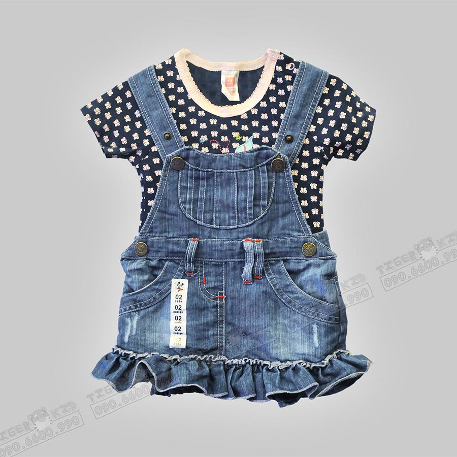 Quần áo trẻ em, bodysuit, Carter, đầm bé gái cao cấp, quần áo trẻ em nhập khẩu, Váy jean cho bé gái từ 1-7 tuổi