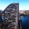 The Sydney Harbor Bridge. @australia