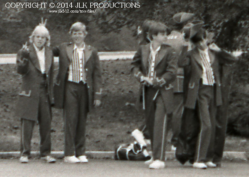 Tri-X Files 84_23.01c: Patriots Waiting for the Bus, Close-Up 2