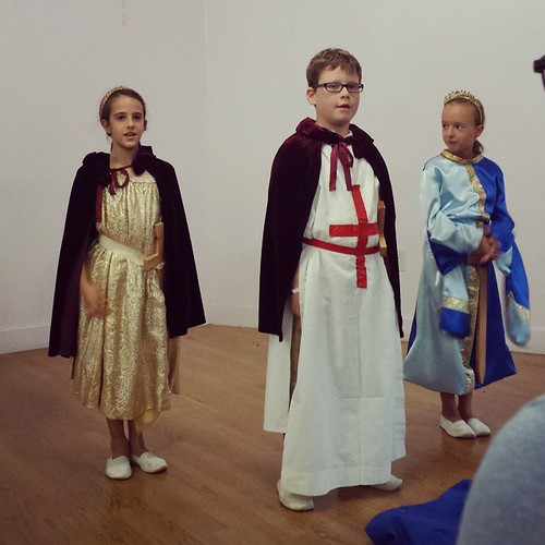 St. George,  Michael,  and the princess #waldorf #sacramentowaldorfschool #secondgrade #michaelmas #stmichael
